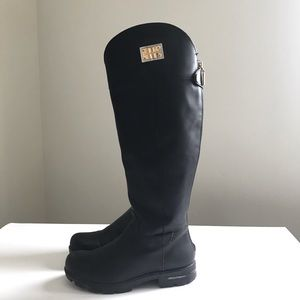 Dolce and Gabbana black rain boots size 36